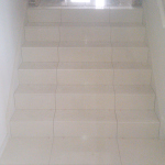 Porcelain tiled steps