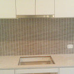 Rectangle glass mosaic splashback