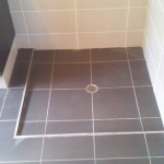 Set down shower floor