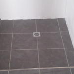Square chrome shower grate