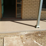Verandah with plastered edge