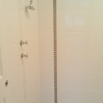 Vertical frieze in shower